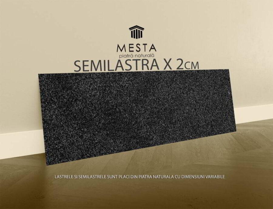 Granit Negru Piper Lucios Semilastra x 2cm