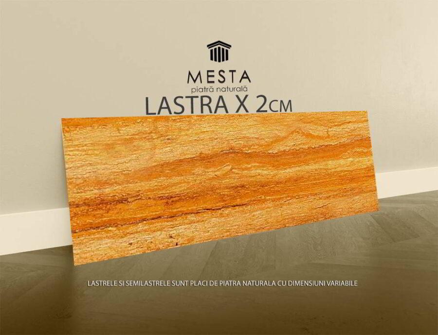 Travertin Golden Sienna Vein Cut Lucios Lastra x 2cm